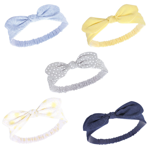 Hudson Baby Cotton and Synthetic Headbands, Yellow Daisy