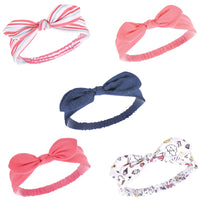 Hudson Baby Cotton and Synthetic Headbands, Doodle