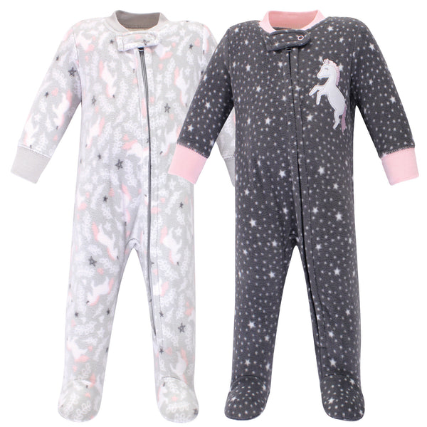 Hudson Baby Fleece Sleep and Play, Whimsical Unicorn