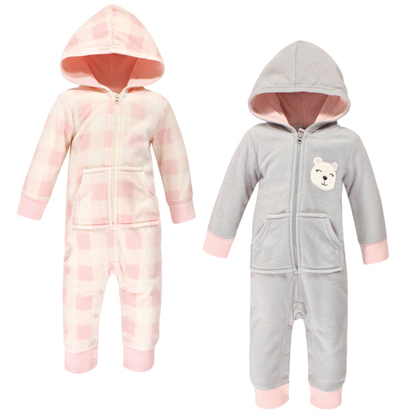 Hudson Baby Fleece Jumpsuits, Coveralls, and Playsuits, Girl Baby Bear