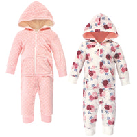 Hudson Baby Fleece Jumpsuits, Coveralls, and Playsuits, Floral Baby