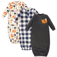 Hudson Baby Fleece Gowns, Forest