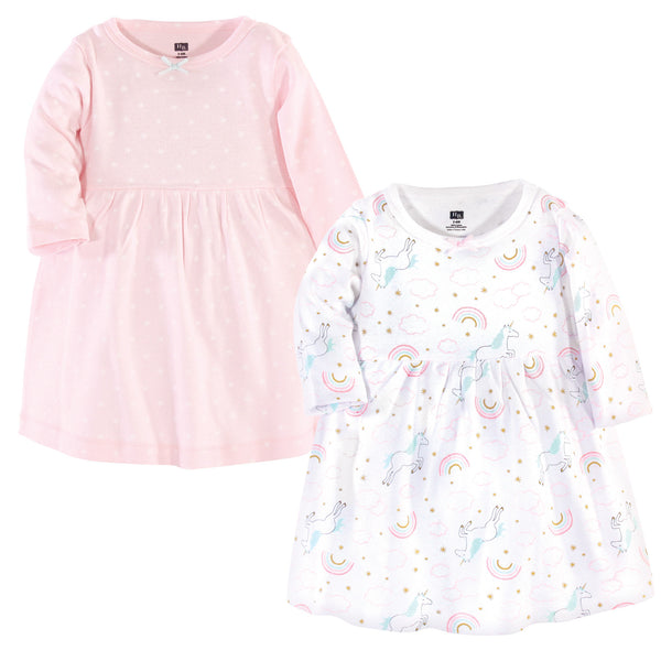 Hudson Baby Cotton Dresses, Glitter Unicorn