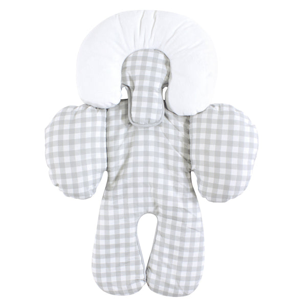 Hudson Baby Car Seat Body Support Insert, Gray Gingham