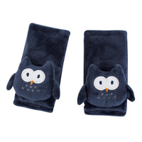 Hudson Baby Cushioned Strap Covers, Navy Owl