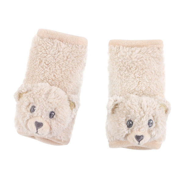 Hudson Baby Cushioned Strap Covers, Tan Bear