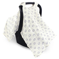 Hudson Baby Muslin Cotton Car Seat and Stroller Canopy, Football