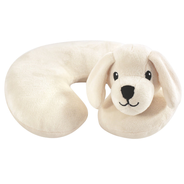 Hudson Baby Neck Pillow, Tan Puppy
