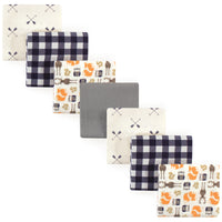 Hudson Baby Cotton Flannel Receiving Blankets Bundle, Forest
