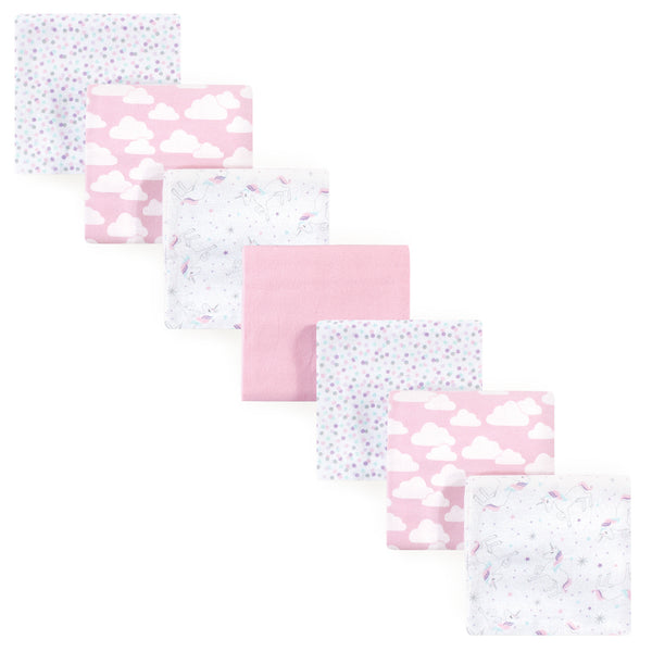 Hudson Baby Cotton Flannel Receiving Blankets Bundle, Magical Unicorn