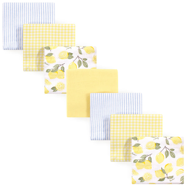 Hudson Baby Cotton Flannel Receiving Blankets Bundle, Lemons