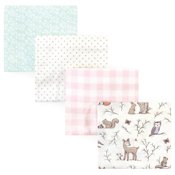 Hudson Baby Cotton Flannel Receiving Blankets, Enchanted Forest