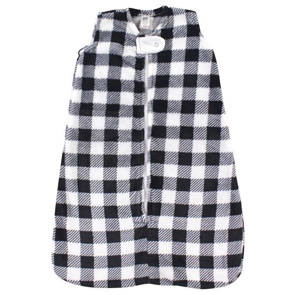 Hudson Baby Plush Sleeping Bag, Sack, Blanket, Black Plaid