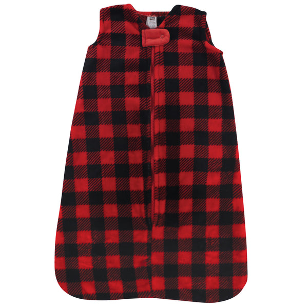 Hudson Baby Plush Sleeping Bag, Sack, Blanket, Buffalo Plaid