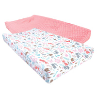 Hudson Baby Cotton Changing Pad Cover, Woodland Fox