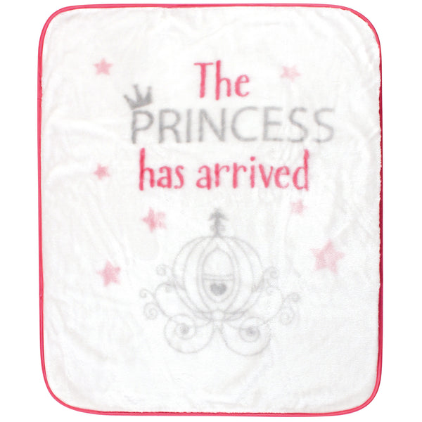 Hudson Baby High Pile Plush Blanket, Princess Has Arrived