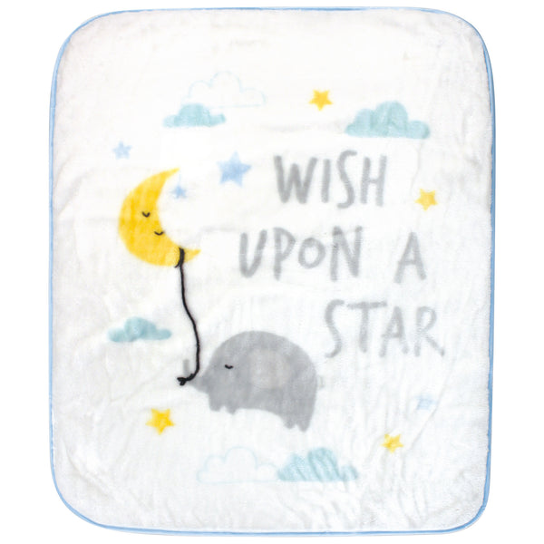 Hudson Baby High Pile Plush Blanket, Wish Upon A Star