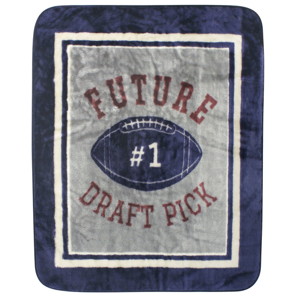 Hudson Baby High Pile Plush Blanket, Football