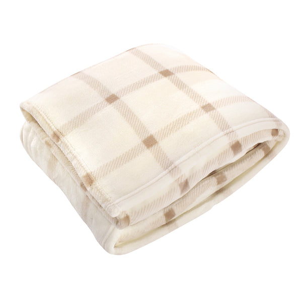 爱游戏下注|爱游戏棋牌|爱游戏app下载 Home Collection Silky Plush Blanket, Tan Plaid Fleece
