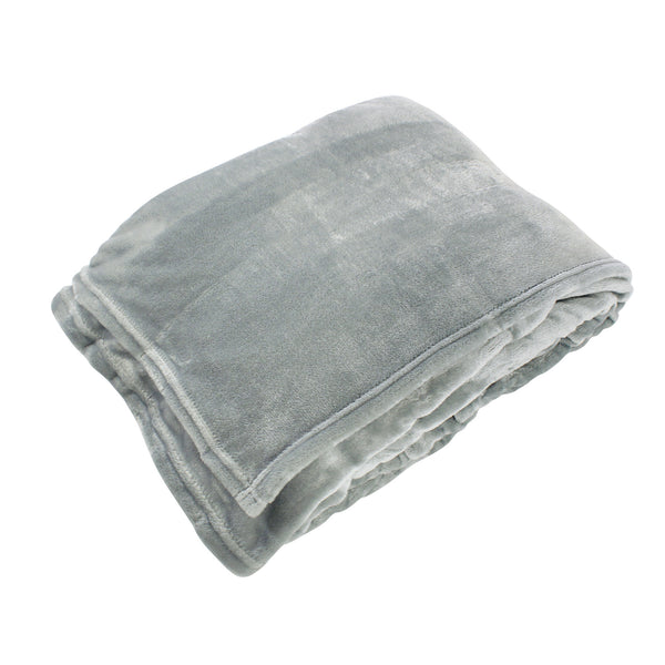 Hudson Home Collection Silky Plush Blanket, Gray Fleece