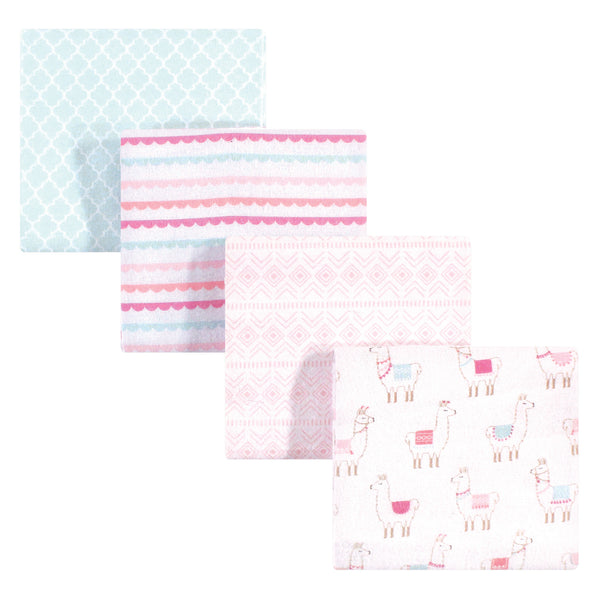 Hudson Baby Cotton Flannel Receiving Blankets, Llama