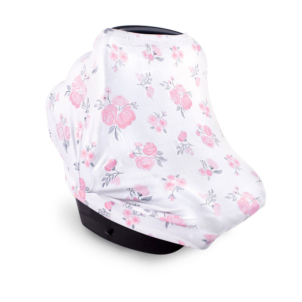 Hudson Baby Multi-use Car Seat Canopy, Pink Floral