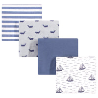 Hudson Baby Cotton Flannel Receiving Blankets, Sailboat