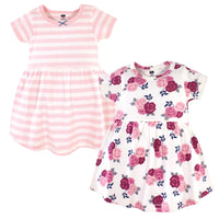 Hudson Baby Cotton Dresses, Blush Floral
