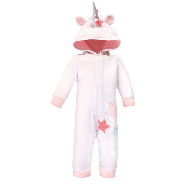 Hudson Baby Fleece Jumpsuits, Coveralls, and Playsuits, Rainbow Unicorn