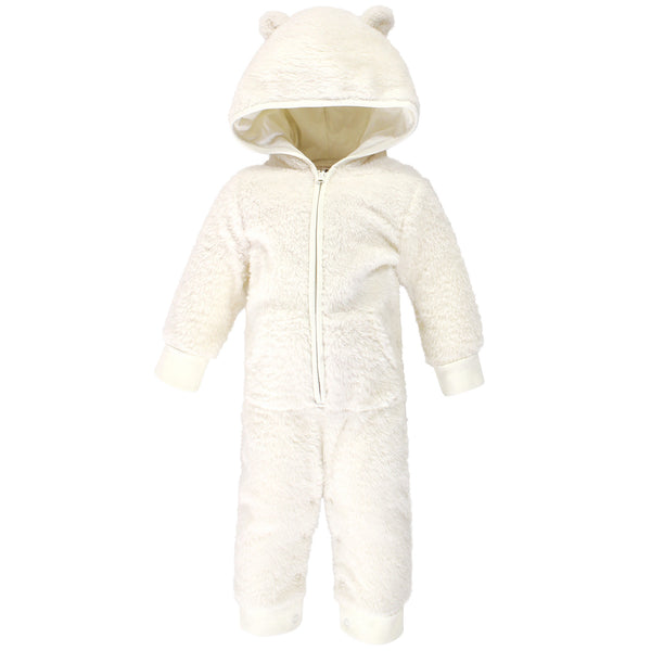 Hudson Baby Fleece Jumpsuits, Coveralls, and Playsuits, Cream Bear Baby