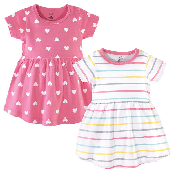 Hudson Baby Cotton Dresses, Candy Stripes