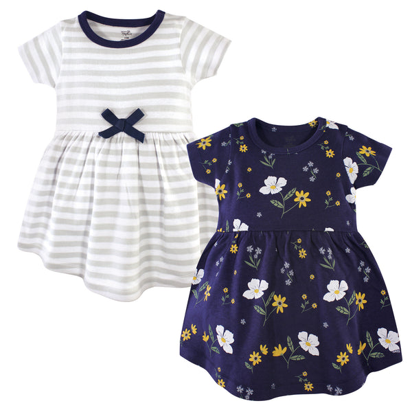 Hudson Baby Cotton Dresses, Night Blooms