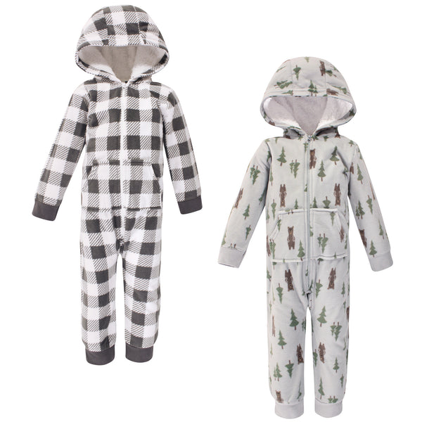 Hudson Baby Fleece Jumpsuits, Coveralls, and Playsuits, Forest Bear Toddler