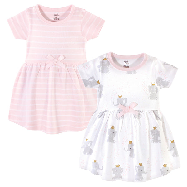 Hudson Baby Cotton Dresses, Elephant Princess
