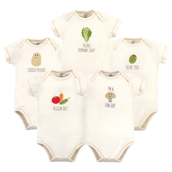 Touched by Nature Organic Cotton Bodysuits, Mushroom