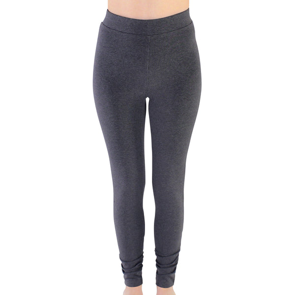 Touched by Nature Organic Cotton Leggings, Heather Charcoal