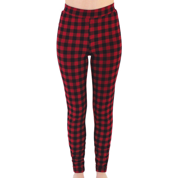 Touched by Nature Organic Cotton Leggings, Buffalo Plaid Women