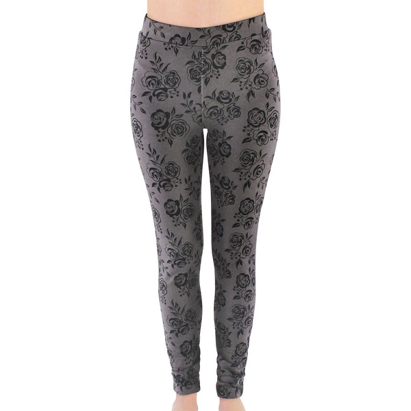 Touched by Nature Organic Cotton Leggings, Black Floral