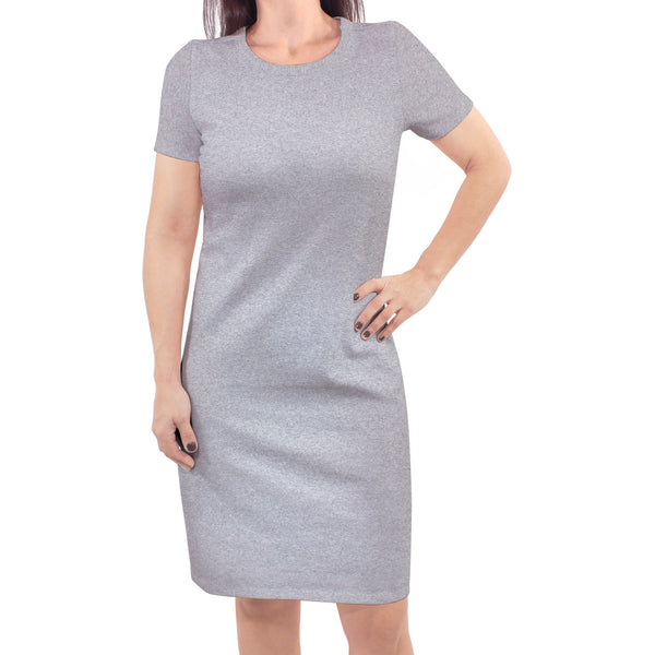 Touched by Nature Organic Cotton Short-Sleeve and Long-Sleeve Dresses, Women Heather Gray Short Sleeve