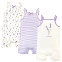 Touched by Nature Organic Cotton Rompers, Lavender