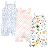 Touched by Nature Organic Cotton Rompers, Flutter Garden