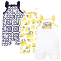 Touched by Nature Organic Cotton Rompers, Lemon Tree