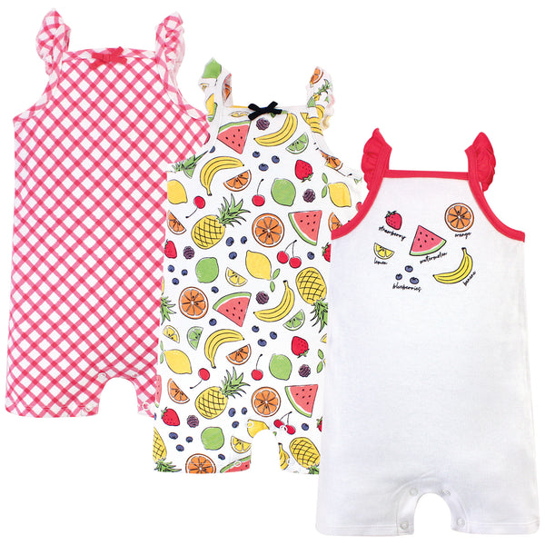 Touched by Nature Organic Cotton Rompers, Fruit