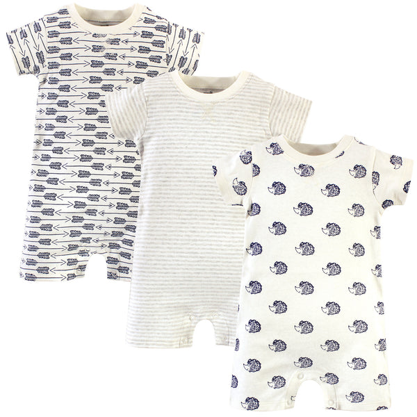 Touched by Nature Organic Cotton Rompers, Hedgehog