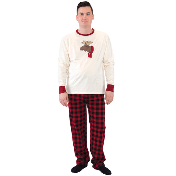 Touched by Nature Holiday Pajamas, Men Moose