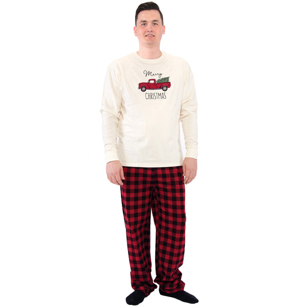 Touched by Nature Holiday Pajamas, Men Christmas Tree