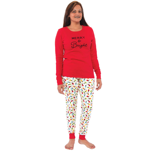 Touched by Nature Holiday Pajamas, Women Merry and Bright
