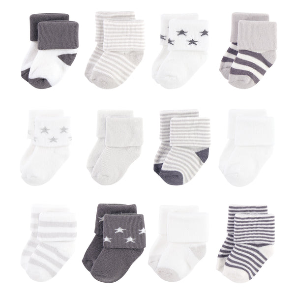 Touched by Nature Organic Cotton Socks, Gray Charcoal Stars