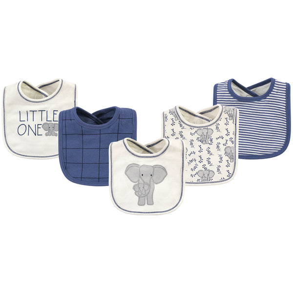 Touched by Nature Organic Cotton Bibs, Elephant