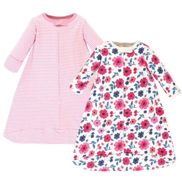 Touched by Nature Organic Cotton Long-Sleeve Wearable Sleeping Bag, Sack, Blanket, Garden Floral